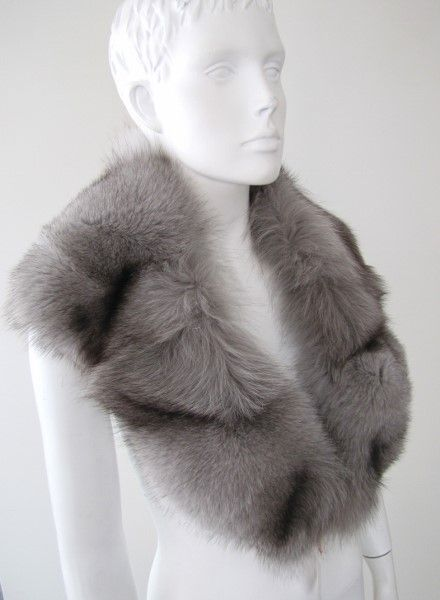 Fur, collar ,fox ,real ,grey ,wild