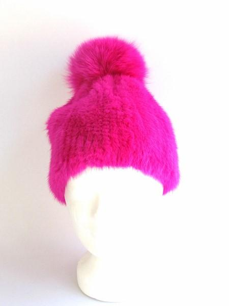 Mink , Beanie ,Fox ,Fur ,Bobble, Pink