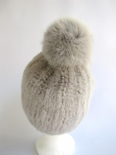 knitted , mink ,cap ,fox ,fur ,bobble