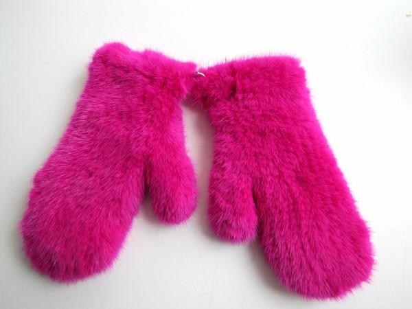 Mink, gloves, knitted ,pink, mittens, fur