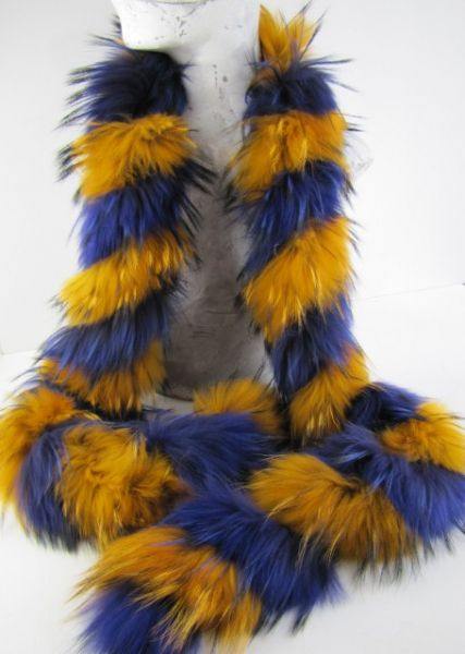 Boa, Piel ,fox ,scarf , raccoon, genuine ,fur