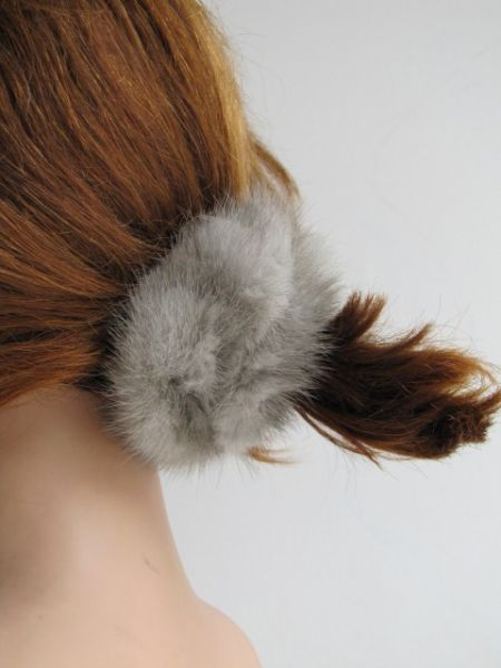 Hair Rubber Mink silver