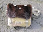 bag with mink fur trimming